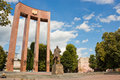 Monument to Stepan Bandera in Lviv, Ukraine. Royalty Free Stock Photo