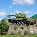 The monument to the tank T-34 Stock Photo