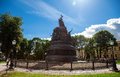 Monument to the th anniversary of russia novgorod august on august in velikiy novgorod was unveiled on Stock Photos