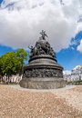 Monument to the th anniversary of russia novgorod august on august in velikiy novgorod was unveiled on Stock Image