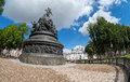 Monument to the th anniversary of russia novgorod august on august in velikiy novgorod was unveiled on sculptors m Royalty Free Stock Image