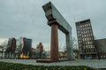 A monument to the unification o lithuania in klaipeda evening of Stock Images