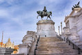 Monument to Victor Emmanuel II or Il Vittoriano, Rome, Italy Royalty Free Stock Photo