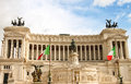 The monument to Victor Emmanuel II. Rome, Italy Royalty Free Stock Photo