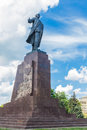 Monument to vladimir lenin in kharkov view of a world famous politician and revolutionist ukraine Royalty Free Stock Photo