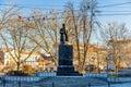 Monument to Vuk Karadzic in Belgrade Royalty Free Stock Photo