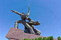 Monument to war in sevastopol town defense of the second world years Stock Photography