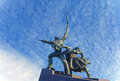 Monument to war in sevastopol town defense of the second world years Royalty Free Stock Photo