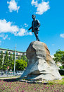 Monument to yakov sverdlov in yekaterinburg installed in Stock Photography