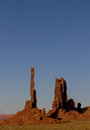 Monument valley just one of the amazing natural sculptures in this is the totem pole Stock Photo