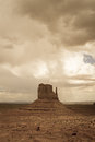 Monument valley navajo park tribal with storm clouds Stock Photography