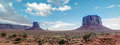 Monument valley panorama skyline of the rocks Royalty Free Stock Images
