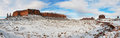 Monument valley panorama in winter Stock Photography