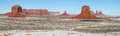 Monument valley panorama in winter Royalty Free Stock Photography