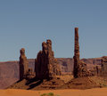 Monument valley picture of one of the statue like monuments of Royalty Free Stock Images
