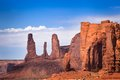 Monument valley rock formations view of camel butte big thumb and the three sisters navajo tribal park Stock Images
