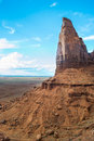 Monument valley utah usa august view of a particular rock formation inside the monumental navajo tribal park during a sunny Royalty Free Stock Photo