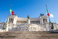 The Monument of Victor Emmanuel II in Rome, Italy Royalty Free Stock Photo