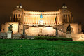 The Monument of Victor Emmanuel II, Venezia Square, in Rome, Ita Royalty Free Stock Photo