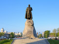 Monument of yerofey khabarov a russian entrepreneur and adventurer best known for his exploring the amur river region khabarovsk Royalty Free Stock Photo