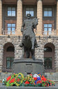 Monument of zhukov in yekaterinburg russia july georgy russia Royalty Free Stock Photography