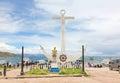 Monument zu don eduardo avaroa in copacabana bolivien Stockfotografie