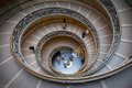 The monumental double spiral staircase designed by giuseppe momo helical to vatican museums Royalty Free Stock Photo