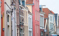 Monumental facades in deventer, netherlands Stock Photo