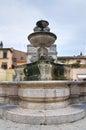Monumental fountain. Sutri. Lazio. Italy. Stock Photo