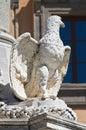 Monumental fountain. Tarquinia. Lazio. Italy. Stock Photos