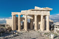 Monumental gateway Propylaea in the Acropolis of Athens, Greece Royalty Free Stock Photo