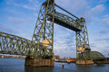 Monumental iron lifting bridge in Rotterdam Stock Photography