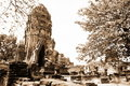 Monuments of buddah, ruins of Ayutthaya Stock Photography