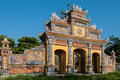 Monuments of hue vietnam one the most magnificent and well preserved gateways in the protected by unesco old imperial city Royalty Free Stock Photo