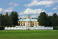 The monuments and palace in park of museum arkhangelskoe Royalty Free Stock Photos