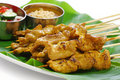 Moo satay, pork satay, thai cuisine Stock Photo