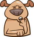 Mood sleepy dog cartoon illustration of funny expressing or emotion Royalty Free Stock Photos