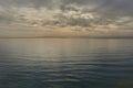 Moody sky over the Mediterranean Sea in Dehesa de Campoamor Royalty Free Stock Photo