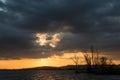 Moody sunset at the lake