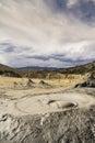 Moody volcanos selenar landscape of Stock Image