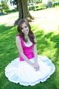 Mooi Meisje in Schaduw Royalty-vrije Stock Afbeelding