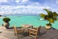 Mooi strand jacht en water villa maldives Royalty-vrije Stock Foto