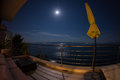 Moon above Split, Croatia Royalty Free Stock Photo