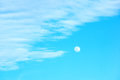Moon and blue sky Royalty Free Stock Photo