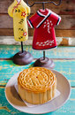 Moon cake chinese for celebrate in mid autumn festival Stock Photo