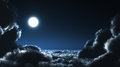 Moon and cloudscape at night Royalty Free Stock Photo