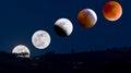 Moon Eclipse as seen in Ecuador Royalty Free Stock Photo