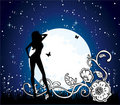 Moon girl Royalty Free Stock Photos