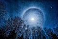 Moon Halo Royalty Free Stock Images