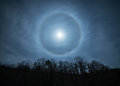 Moon halo Royalty Free Stock Photo